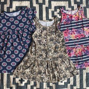 Bundle 3T Girls Print Dresses H&M Old Navy